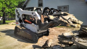 Concrete Removal with the Bobcat
